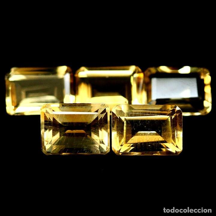 CITRINO NATURAL 7 X 5 MM. (Coleccionismo - Mineralogía - Gemas)