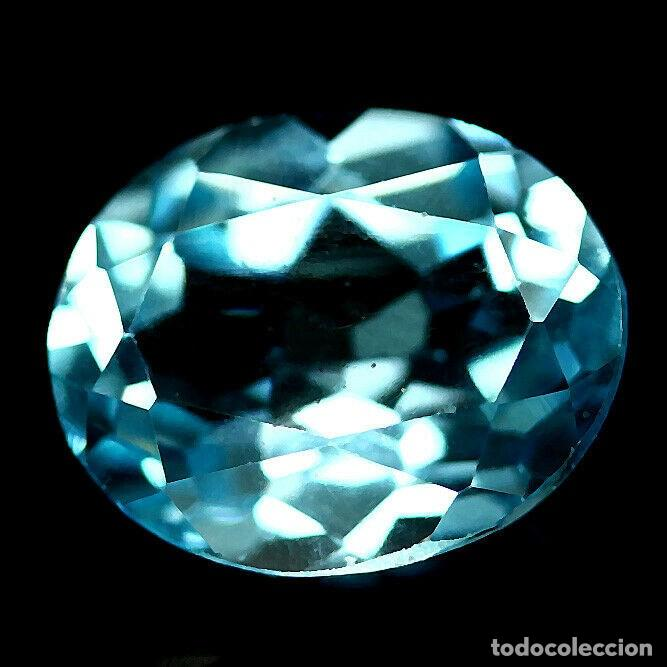 TOPAZIO OVAL 11.2 X 10.0 MM. (Coleccionismo - Mineralogía - Gemas)