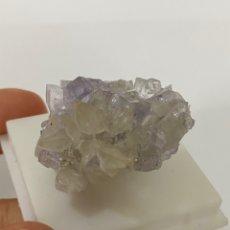 Coleccionismo de gemas: FLUORITA Y CALCITA DE LA MINA EMILIO, LOROÑE, ASTÚRIAS, ESPAÑA. Lote 219339132