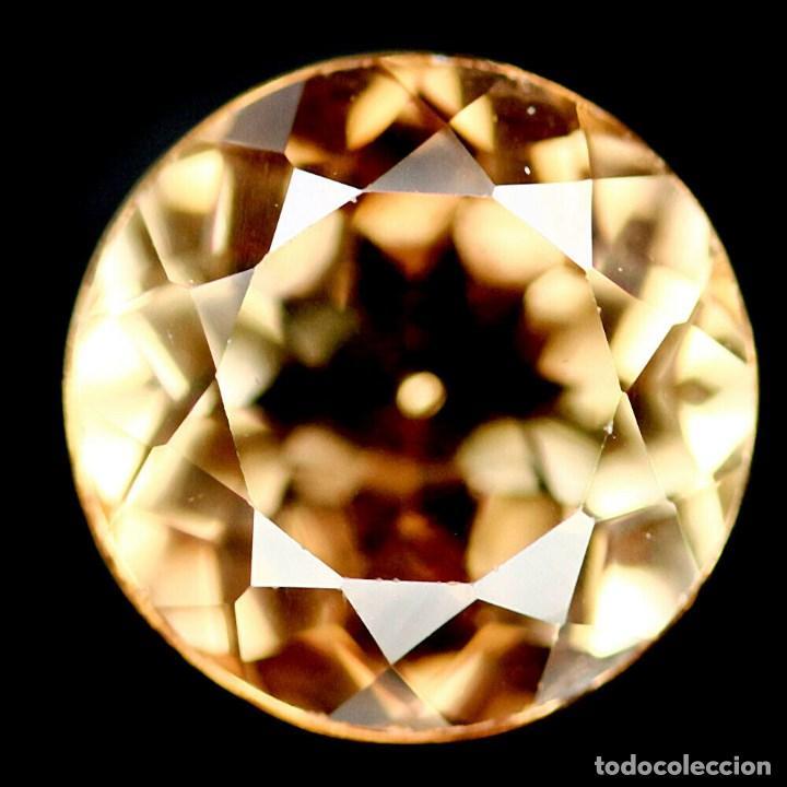 Coleccionismo de gemas: Topacio Champan Redondo 9 mm - Foto 2 - 219505768