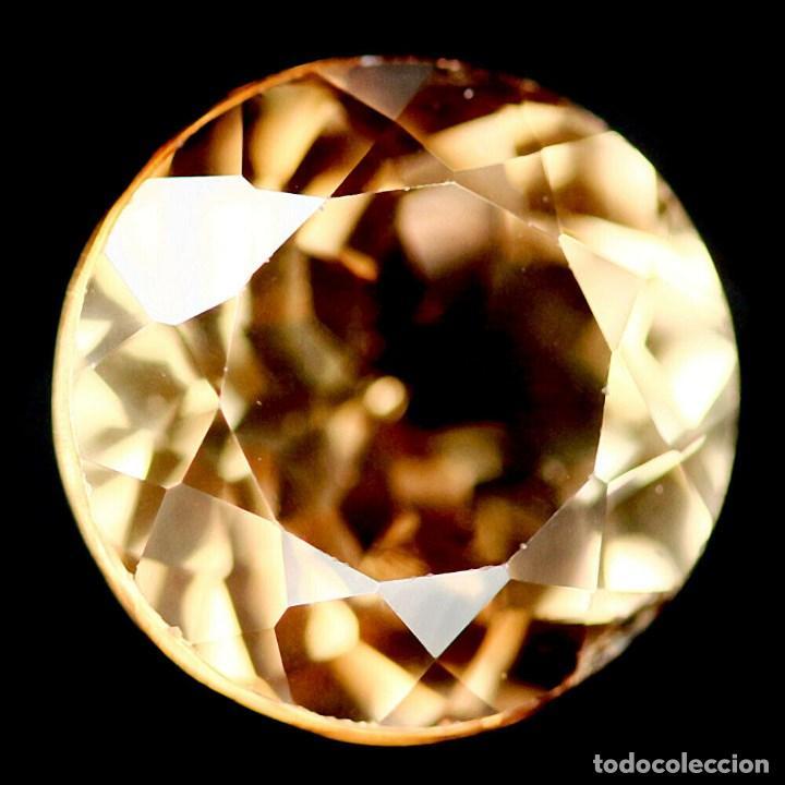 TOPACIO CHAMPAN REDONDO 9 MM (Coleccionismo - Mineralogía - Gemas)