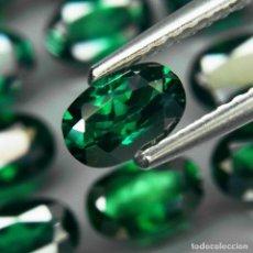 Coleccionismo de gemas: TOPAZIO VERDE 6.0 X 4.0 MM.. Lote 219511550