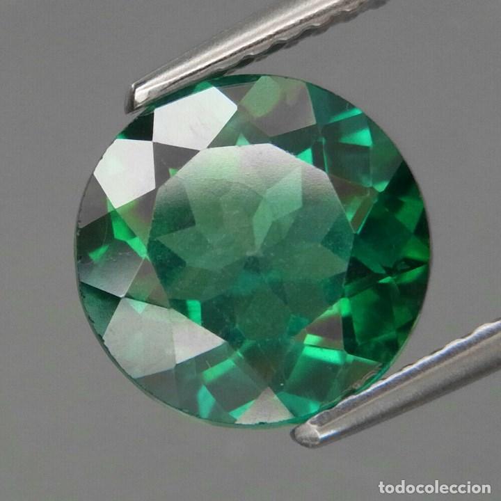 TOPAZIO VERDE REDONDO 9.0 MM. (Coleccionismo - Mineralogía - Gemas)