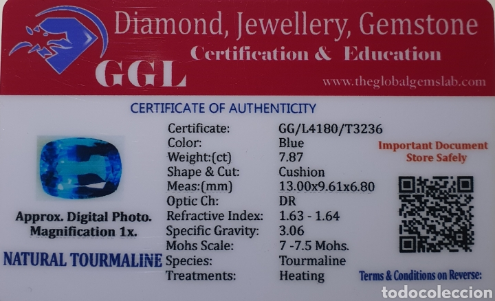Coleccionismo de gemas: Excepcional Turmalina natural de 7.87 Quilates valorado en más de 600 euros - Foto 5 - 219686196