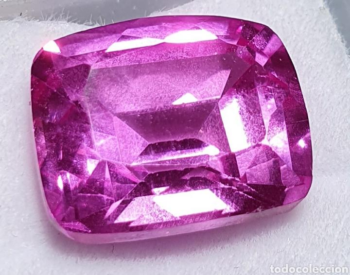EXCEPCIONAL ENORME RUBY ROSADO PURPURA NATURAL DE 13.35 QUILATES VALORADO EN MÁS DE 1400 EUROS. (Coleccionismo - Mineralogía - Gemas)