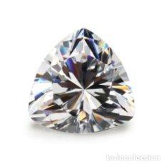 Coleccionismo de gemas: MAGNIFICO ZAFIRO BLANCO CHATHAM DE SRI LANKA CORTE TRILLÓN CON 10.5 CT.. Lote 219742030
