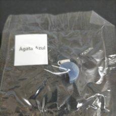 Coleccionismo de gemas: COLGANTE MINERAL AGATA AZUL. Lote 223824806