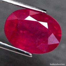 Coleccionismo de gemas: RUBI OVAL 9,9 X 7,8 MM.. Lote 224514975