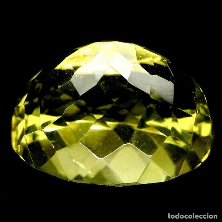 Coleccionismo de gemas: Cuarzo Amarillo Limon 14,3 x 11,9 mm. - Foto 2 - 225278727