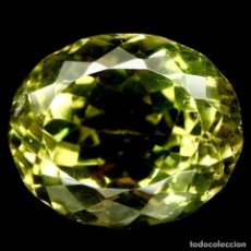 Coleccionismo de gemas: CUARZO AMARILLO LIMON 14,3 X 11,9 MM.. Lote 225278727