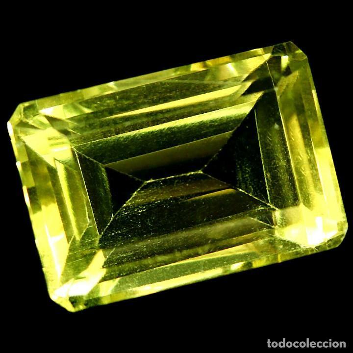 CUARZO AMARILLO LIMON 15,5 X 10,5 MM. (Coleccionismo - Mineralogía - Gemas)