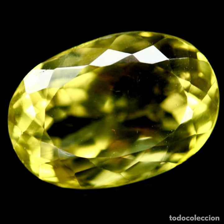 CUARZO AMARILLO LIMON 16,0 X 11,0 MM. (Coleccionismo - Mineralogía - Gemas)
