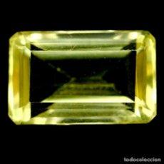Coleccionismo de gemas: CUARZO AMARILLO LIMON 16,5 X 10,5 MM.. Lote 225283185