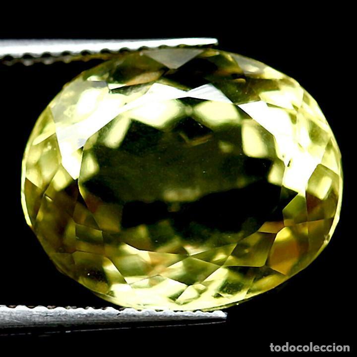 Coleccionismo de gemas: Cuarzo Amarillo Limon 14,1 x 11,8 mm. - Foto 2 - 225284080