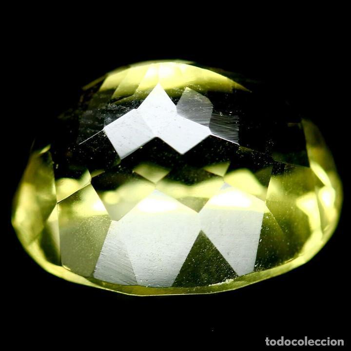 Coleccionismo de gemas: Cuarzo Amarillo Limon 14,1 x 11,8 mm. - Foto 3 - 225284080