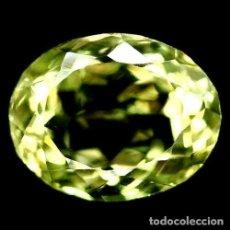 Coleccionismo de gemas: CUARZO AMARILLO LIMON 13,5 X 11,0 MM.. Lote 225284955