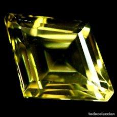 Coleccionismo de gemas: CUARZO AMARILLO LIMON 17,5 X 13,0 MM.. Lote 225285640