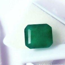 Collectionnisme de gemmes: ESMERALDA DENDRITICA NATURAL DE COLOMBIA TALLA TRADICIONAL CON 10.25 CT. CERTIFICADA.. Lote 225398135