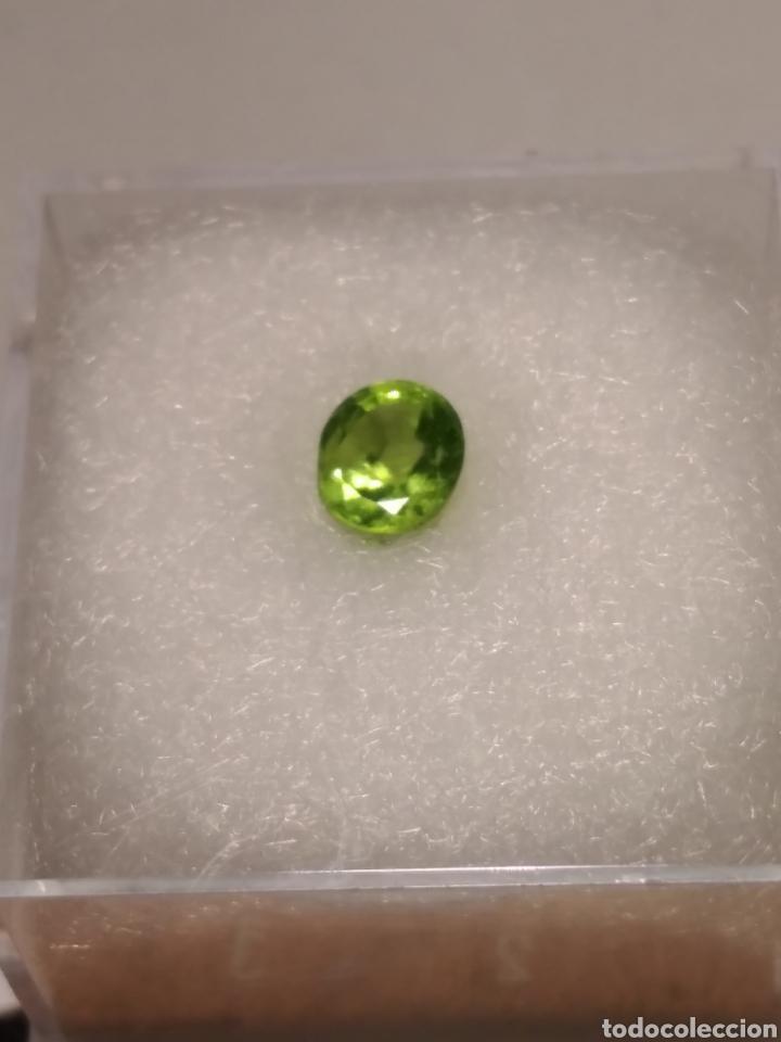 Coleccionismo de gemas: MINERAL PERIDOTO OLIVINO TALLADO . INDIA. - Foto 3 - 225861632