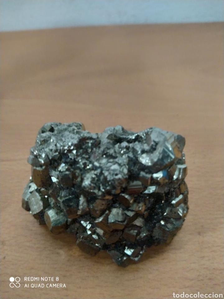 PIEDRA DE PIRITA AUTÉNTICA MEDIDAS 8 POR.5 CENTÍMETROS (Coleccionismo - Mineralogía - Gemas)