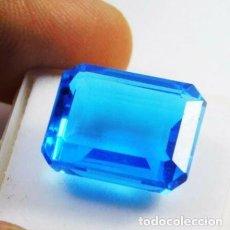 Coleccionismo de gemas: PRECIOSO TOPACIO AZUL TIPO LONDRES CON TALLA ESMERALDA Y 9.85 CT.. Lote 229690165