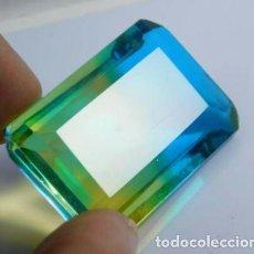 Coleccionismo de gemas: PRECIOSO TOPACIO HYDRO MULTICOLOR DE BRASIL TALLA ESMERALDA CON 86.00 CT.. Lote 229986455
