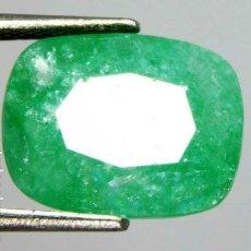 Collezionismo di gemme: PRECIOSA ESMERALDA NATURAL DE ZAMBIA TALLA COJÍN CON 4.65 CT.. Lote 230438735