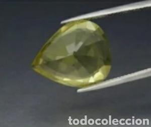 Coleccionismo de gemas: 13.36ct 18.3x15mm Pera Cuarzo amarillo natural, Brasil Este Cuarzo es originario de Brasil - Foto 4 - 231275020