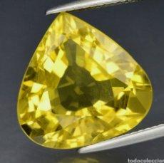 Coleccionismo de gemas: CUARZO 12.42CT 16.5X16.3MM VS PERA CUARZO AMARILLO NATURAL, BRASIL ESTE CUARZO. Lote 231363215