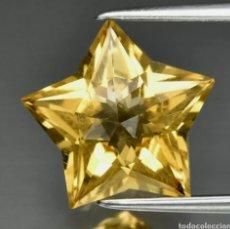 Collezionismo di gemme: 3.49CT 11.7X11.2MM VS STAR CITRINO AMARILLO NATURAL, BRASIL ESTE CITRINO ES ORIGINARIO DE BRASIL. Lote 231857685