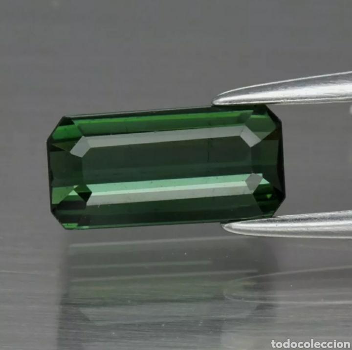 1.20CT 8.7X4.4MM VS OCTAGON TURMALINA VERDE NATURAL SIN CALENTAR, MOZAMBIQUE (Coleccionismo - Mineralogía - Gemas)