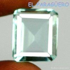 Collectionnisme de gemmes: AGUAMARINA DE 9,05 KILATES CERTIFICADO AGI MEDIDA 1,3X1,1X0,7 CENTIMETROS-P2. Lote 233614975