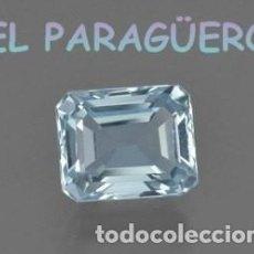 Coleccionismo de gemas: AGUAMARINA DE 7,20 KILATES CERTIFICADO AGI MEDIDA 1,0X0,8X0,7 CENTIMETROS-P8. Lote 233617790