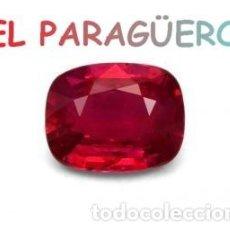 Coleccionismo de gemas: RUBI COJIN ROJO DE 7,15 KILATES CON CERTIFICADO AGI - MEDIDA 1,1X0,8X0,6 CENTIMETROS-P18. Lote 234393560