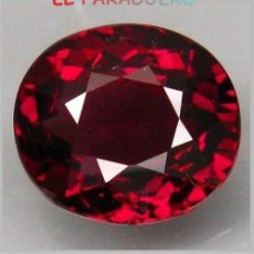 Coleccionismo de gemas: GRANATE OVAL CALIDAD SUPERIOR DE 14 KILATES - MEDIDA 1,7X1,4X1 CENTIMETROS- X11. Lote 234397260
