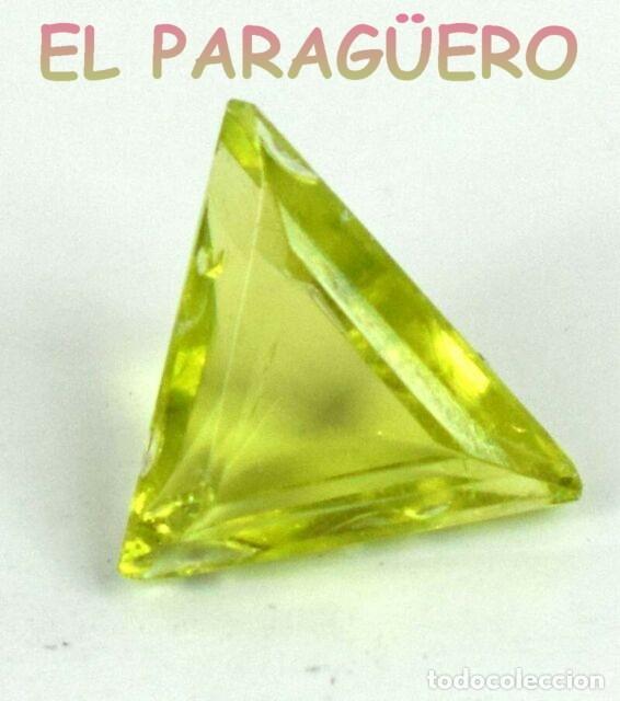 PERIDOT VERDE OLIVA DE 4,05 KILATES - MEDIDA 1,4X1,1X0,6 CENTIMETROS- P4 (Coleccionismo - Mineralogía - Gemas)