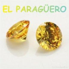 Coleccionismo de gemas: ZIRCON DIAMANTE AMARILLO LIMON DE 3,55 KILATES CON CERTIFICADO - MEDIDA 0,7X0,7X0,4 CENTIMETROS- P1. Lote 234404350
