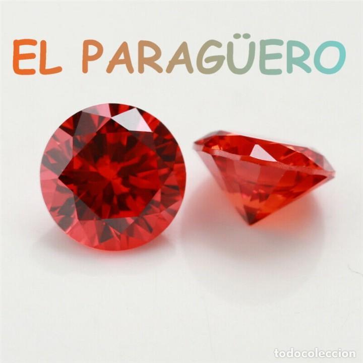 ZIRCON DIAMANTE NARANJA FUEGO DE 4,90 KILATES CON CERTIFICADO - MEDIDA 0,9X0,9X0,5 CENTIMETROS- P3 (Coleccionismo - Mineralogía - Gemas)