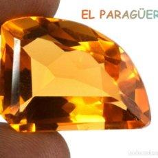Coleccionismo de gemas: CITRINO AMARILLO ANARANJADO DE 37,95 KILATS CON CERTIFICADO AGI MEDIDA 2,5X1,9X1,2 CENTIMETROS-P20. Lote 234408910