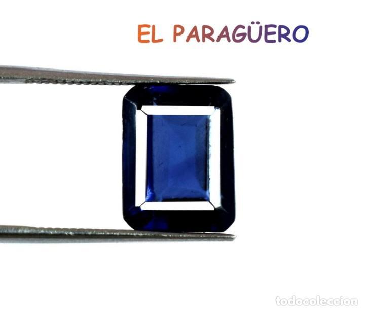 TANZANITA OCTOGONAL AZUL DE 8,10 KILATES CERTIFICADO AGI MEDIDA 1,1X0,9X0,6 CENTIMETROS-P4 (Coleccionismo - Mineralogía - Gemas)