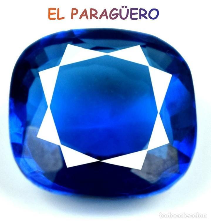 TANZANITA COJIN AZUL DE 7,30 KILATES CERTIFICADO AGI MEDIDA 1,2X1,2X0,6 CENTIMETROS-P6 (Coleccionismo - Mineralogía - Gemas)