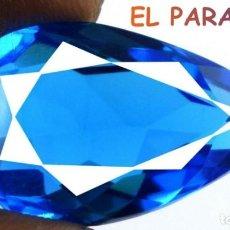 Coleccionismo de gemas: TOPACIO LAGRIMA AZUL DE 35,80 KILATES CERTIFICADO AGI MEDIDA 2,8X1,8X1,2 CENTIMETROS-T14. Lote 234760780