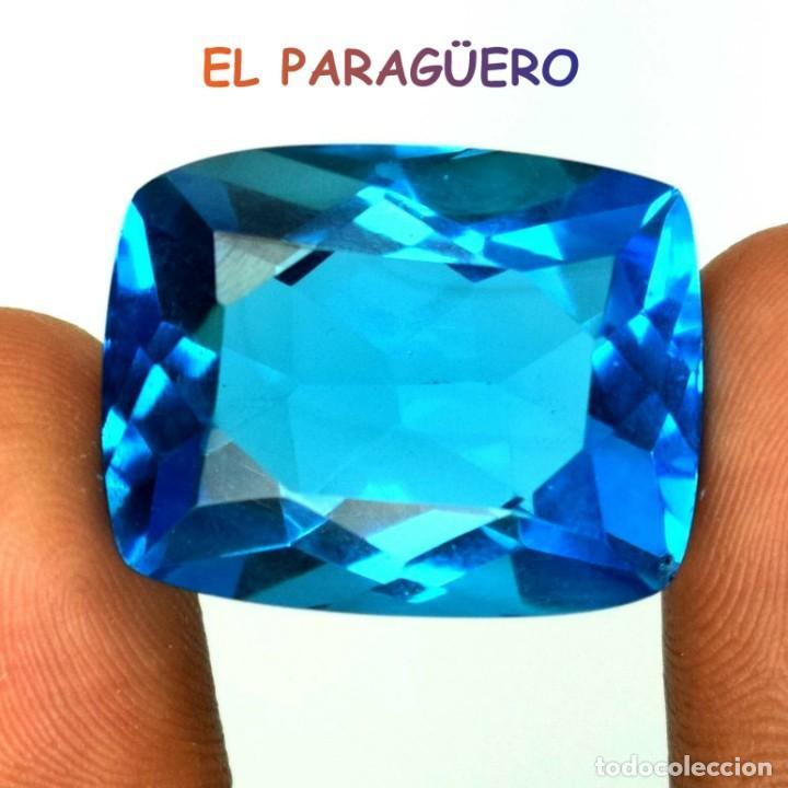 TOPACIO COJIN SWIS BLUE DE 54,40 KILATES CERTIFICADO AGI MEDIDA 2,8X2,1X1,4 CENTIMETROS-T15 (Coleccionismo - Mineralogía - Gemas)