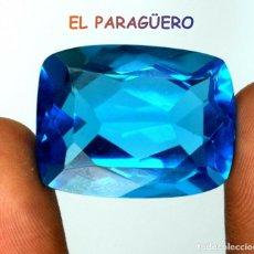 Coleccionismo de gemas: TOPACIO COJIN SWIS BLUE DE 56,60 KILATES CERTIFICADO AGI MEDIDA 2,8X2,1X1,4 CENTIMETROS-T16. Lote 234762960
