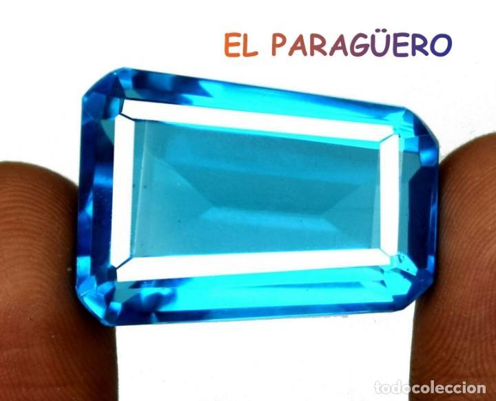 TOPACIO SWIS BLUE DE 52,55 KILATES CERTIFICADO AGI MEDIDA 2,8X2,0X1,3 CENTIMETROS-T17 (Coleccionismo - Mineralogía - Gemas)