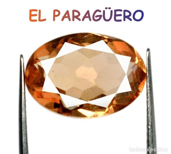 TOPACIO NARANJA DE 5,40 KILATES CERTIFICADO AGI MEDIDA 1,3X0,9X0,6 CENTIMETROS-T23 (Coleccionismo - Mineralogía - Gemas)
