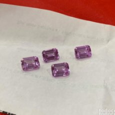 Collezionismo di gemme: LOTE DE 4 PIEDRAS PARIS ORIGINALES ZAFIRO ROSA 12X8 MM . TENEMOS MÁS .VER LAS FOTOS. Lote 234808315