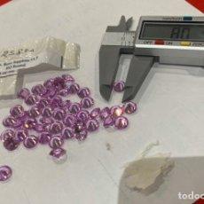 Coleccionismo de gemas: LOTE DE 45 PIEDRAS PARIS ORIGINALES ZAFIRO ROSA 8.00 MM .ROUND . VER LAS FOTOS. Lote 234811820