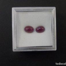 Collezionismo di gemme: PAREJA RUBIS TALLA CABUJON OVAL MEDIDA 9 X 6 MM. PESO 5,40 CTS. BIRMANIA. SIGLO XX. Lote 236097595