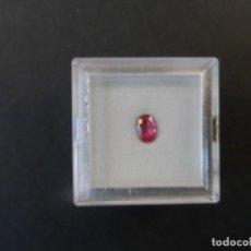 Collezionismo di gemme: RUBI ROSA TALLA OVAL. MEDIDAS 6 X 4 MM. PESO 0,53 CTS. BIRMANIA. SIGLO XX. Lote 236098290